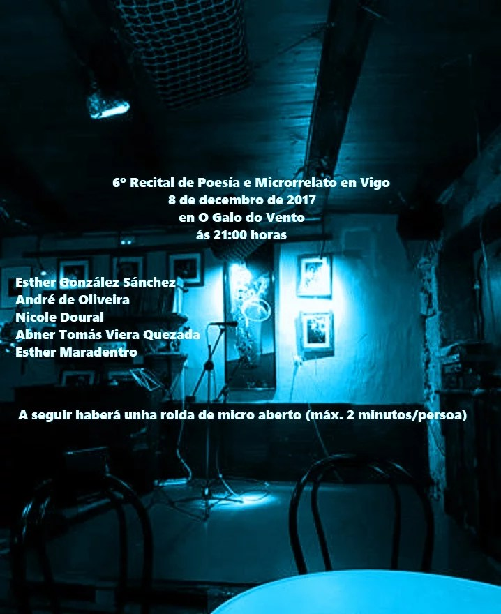 6º Recital de Poesía e Microrrelato en Vigo