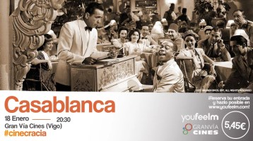 ¿Quiéres ver la peli Casablanca en el Cine?