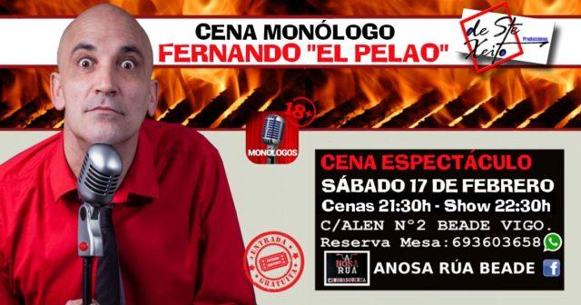 Cena Monólogo con El Pelao