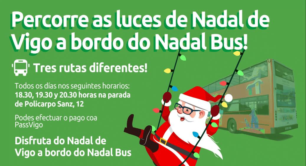NadalBus: Percorrido polas luces do Nadal de Vigo