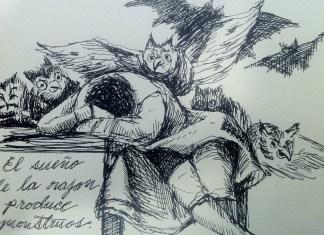 Grabado 'El sueño de la razón produce monstruos' de Goya