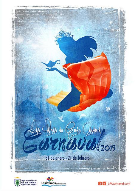 Cartel oficial del Carnaval 2015. Diseño de Jorge Leal. lpacarnaval