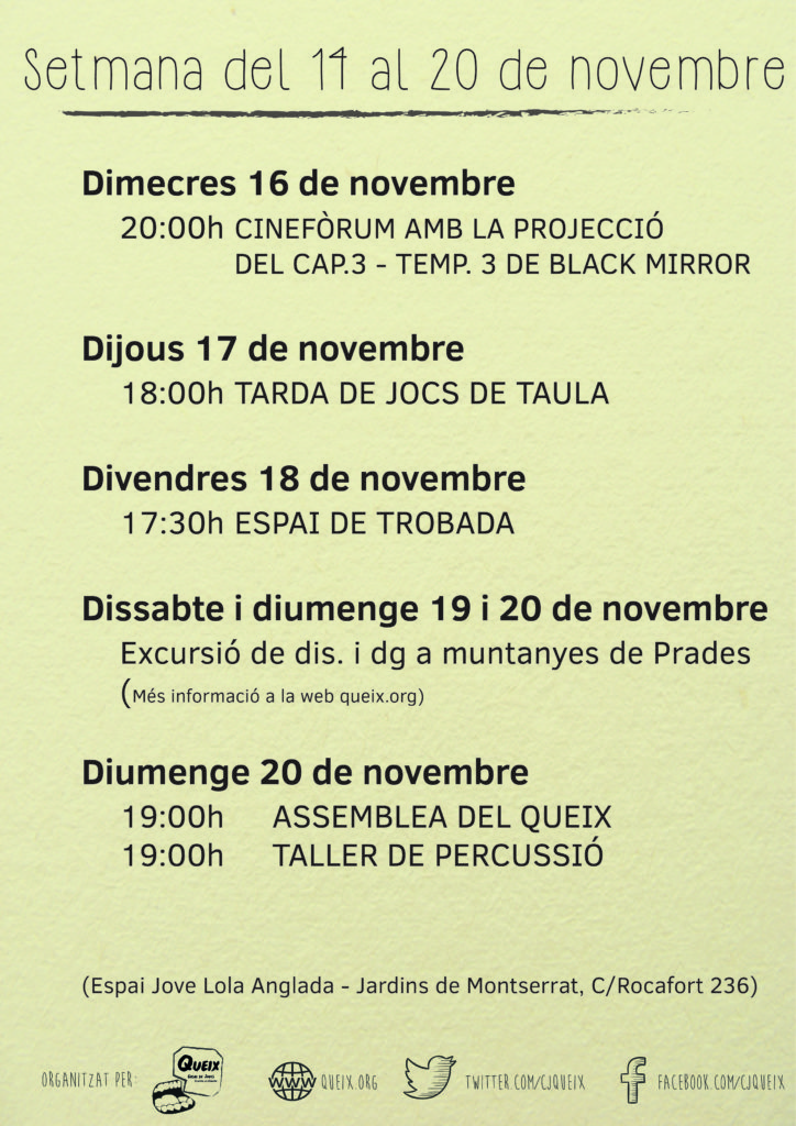 planning 14-20 novembre