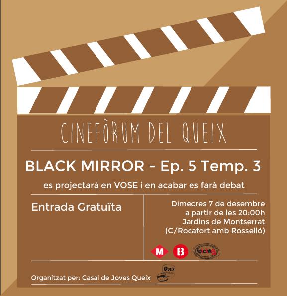 Cartell Cinefòrum Capítol 5 temporada 3 Black Mirror
