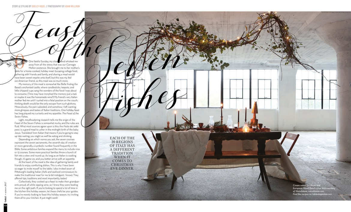 """Writing & Styling """"The Feast of the Seven Fishes"""" // www.Quelcy.com"""