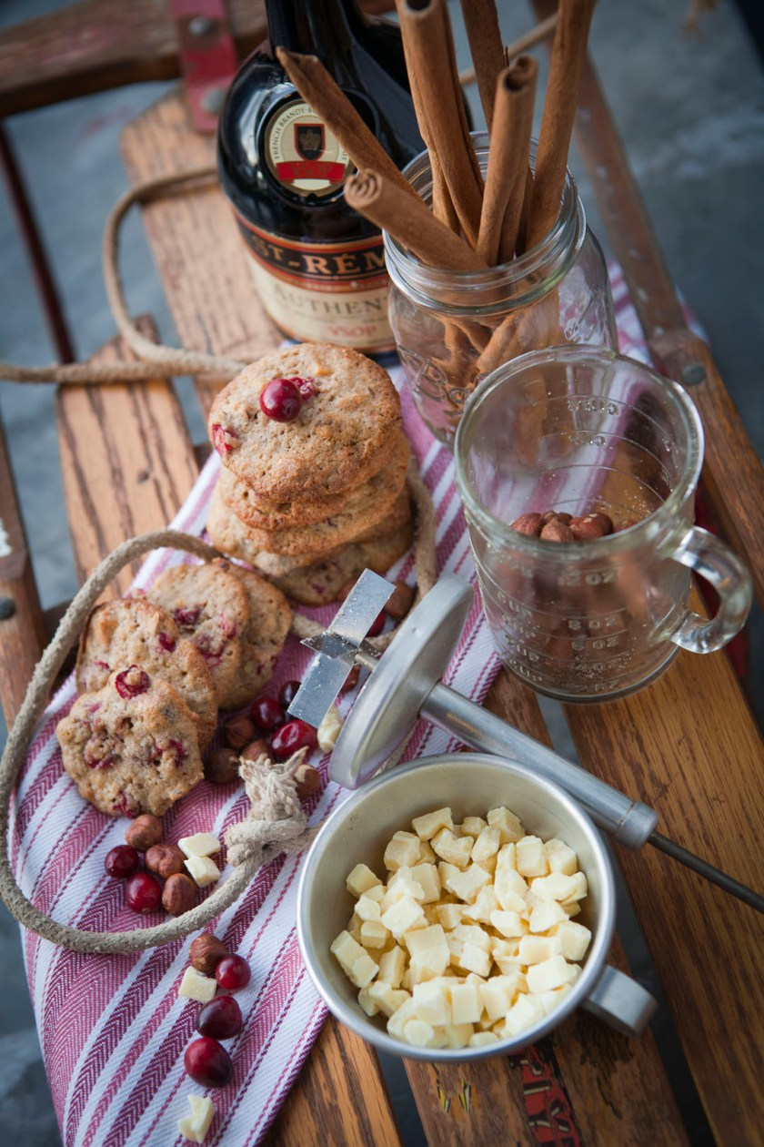 Cranberry Christmas Cookies Styled by Quelcy // www.WithTheGrains.com