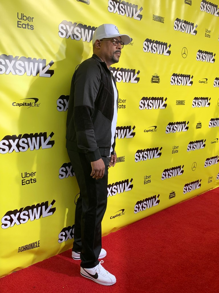 Martin Lawrence at the SXSW red carpet premiere of The Beach Bum.