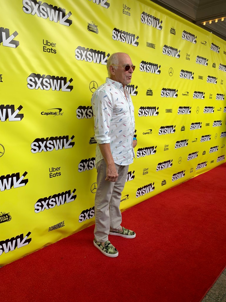 Jimmy Buffett at the SXSW red carpet premiere of The Beach Bum.