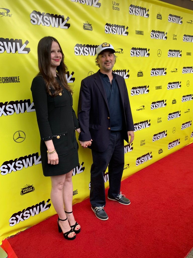 Rachel Korine and Director Harmony Korine at the SXSW red carpet premiere of The Beach Bum.