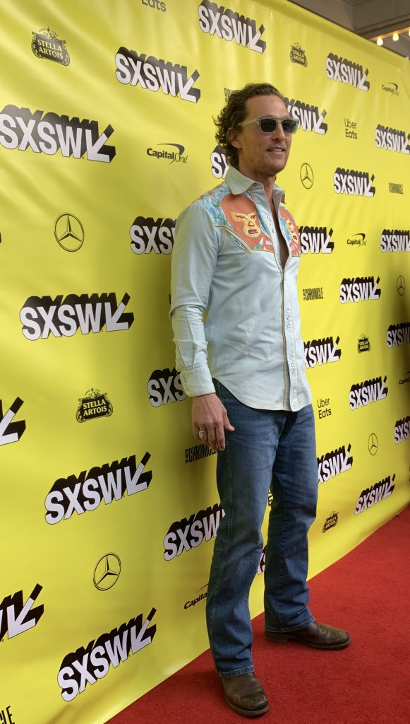Matthew McConaughey at the SXSW red carpet premiere of The Beach Bum.