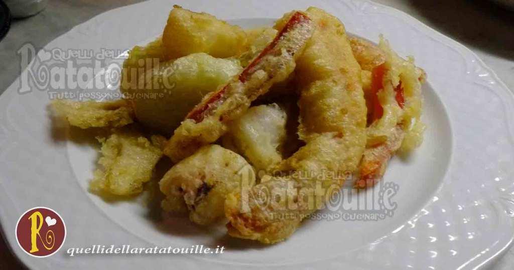 tenpura o tempura di pesce e verdure