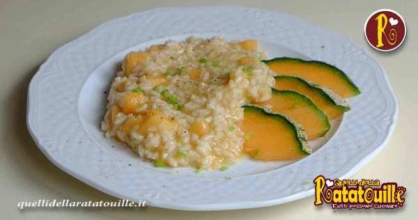 risotto con melone