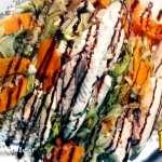 pesce al vapore con pilaf bianco