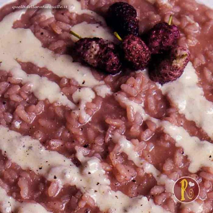 risotto con gelsi e gorgonzola