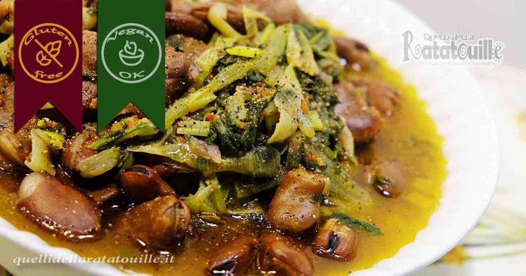 zuppa contadina di fave e biete