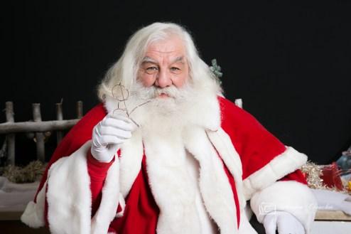 Le Père Noël en studio