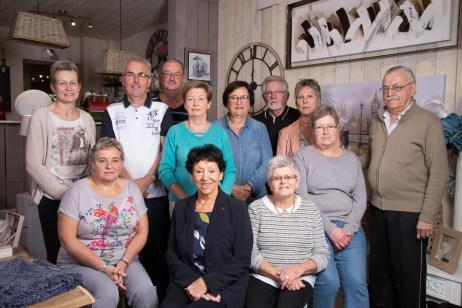 Les membres de l'association Myosotis