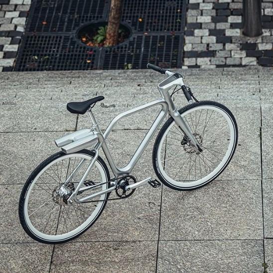 Angell vélo smart bike vue de dessus