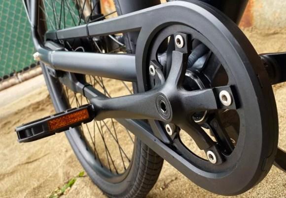VanMoof S3 vélo électrique connecté, zoom pédalier