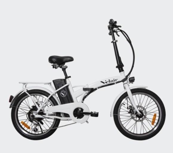vélo électrique pliant pas cher - Velair Work - blanc