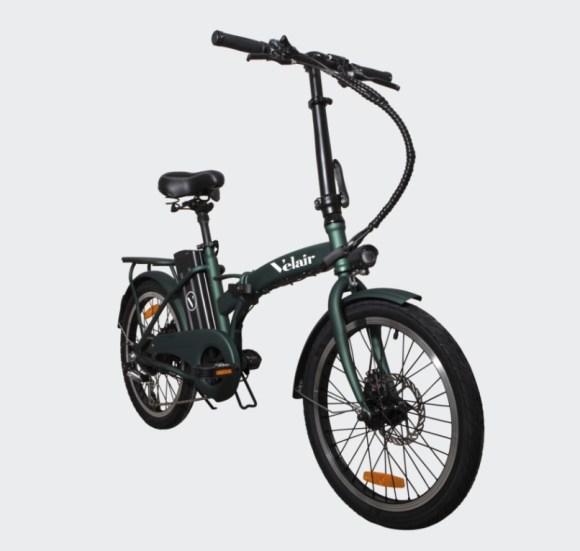 vélo électrique pliant pas cher - Velair Work - global vert