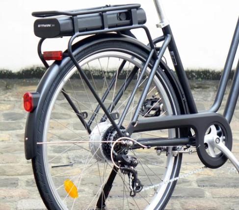 Elops 120 E vélo électrique decathlon roue arrière