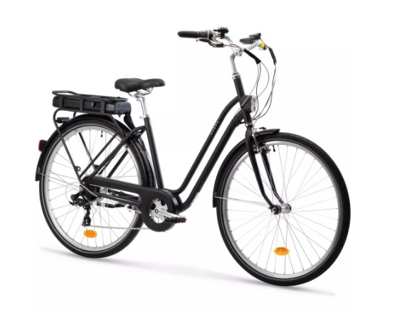 Elops 120e vélo électrique Décathlon fond blanc