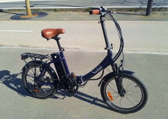 vue extérieur Urban Velair vélo électrique pliant milieu de gamme