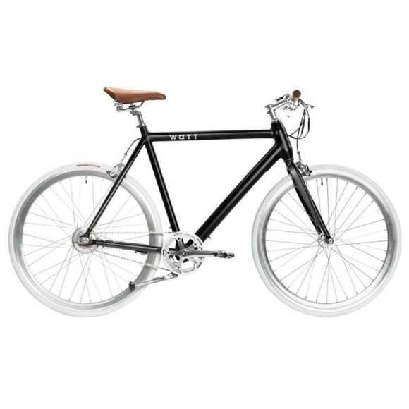 Watt-NEW-YORK vélo fixie électrique profil fond blanc