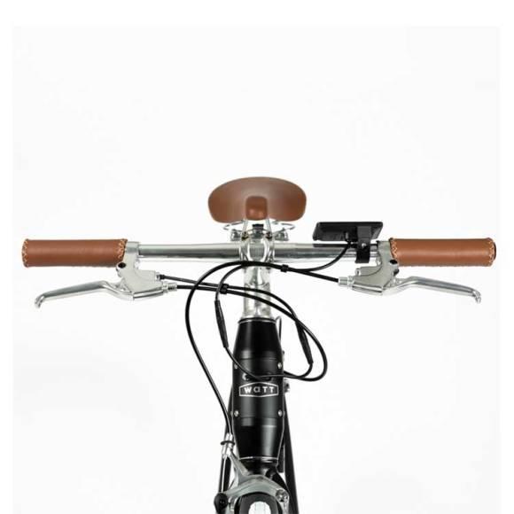 fixie electrique Watt-NEW-YORK vélo électrique zoom avant guidon
