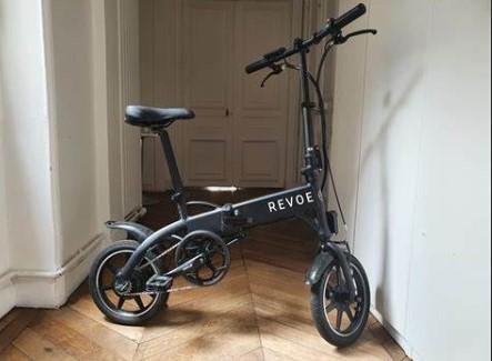 Revoe vélo electrique pliant salon profil