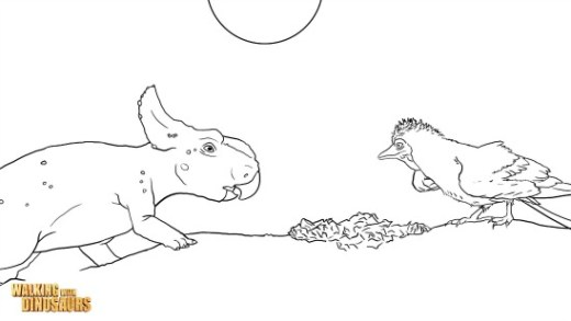 walking-with-dinosaurs-coloring-sheet
