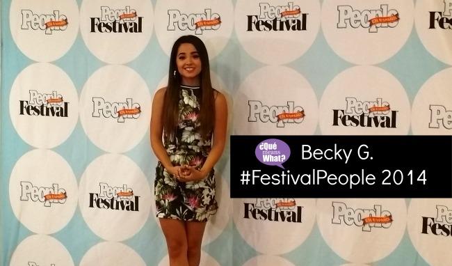 Becky G at Festival People en Espanol