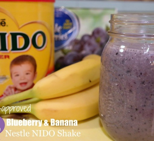 Blueberry Banana Nestle NIDO Shake Recipe on QueMeansWhat.com