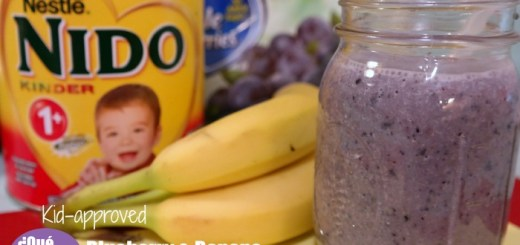 Blueberry Banana Nestle NIDO Shake Recipe on QueMeansWhat.com