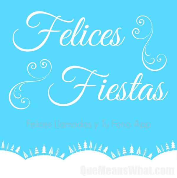 Felices Fiestas y Felices Llamadas QueMeansWhat.com