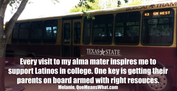 Texas State University Tram - HSF has resources for parents to prepare kids for college.