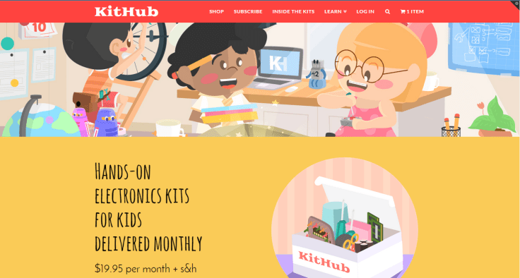 KitHub Monthly Subscribtion Electronic Kits