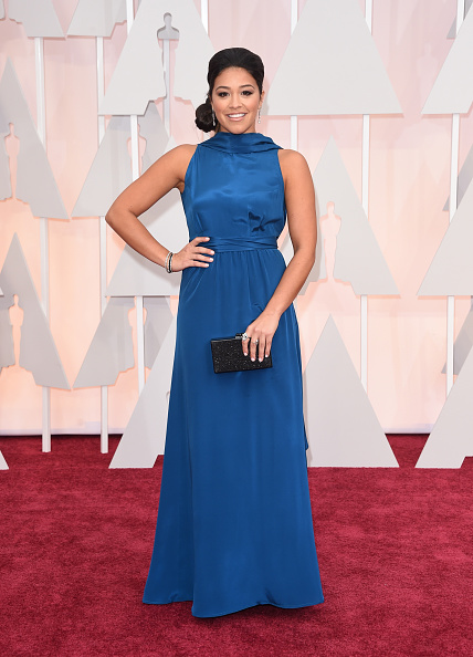HOLLYWOOD, CA - FEBRUARY 22:  Actress Gina Rodriguez attends the 87th Annual Academy Awards at Hollywood & Highland Center on February 22, 2015 in Hollywood, California.  (Photo by Jason Merritt/Getty Images) Courtesy of John Frieda Hair Care.