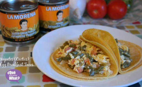 Nopales Egg Breakfast Tacos Recipe on QueMeansWhat.com