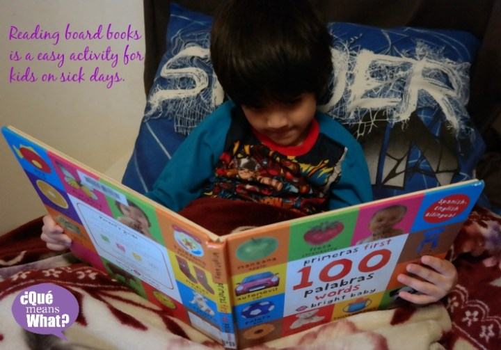 Reading Activities for kids on sick days QueMeansWhat.com