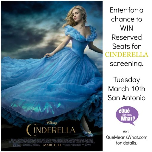 Cinderella Movie Screening San Antonio QueMeansWhat.com