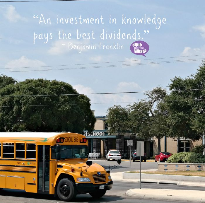 An investment in knowledge pays the best dividends. Benjamin Franklin, QueMeansWhat.com