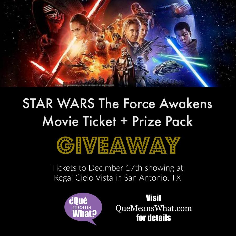 Star Wars The Force Awakens Movie Ticket San Antonio Giveaway