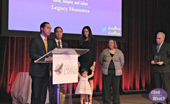 Rosie Castro, Joaquin Castro, Julian Castro at American Latino Influencer Awards 2015 - QueMeansWhat