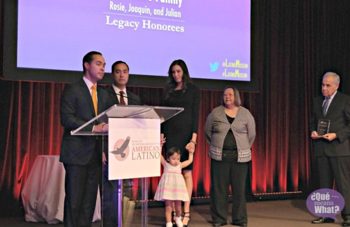 Rosie Castro, Joaquin Castro, Julian Castro at American Latino Influencer Awards 2015 - QueMeansWhat
