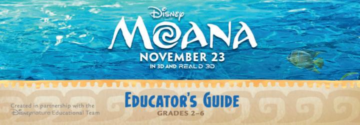 MOANA Movie Educator's Guide Grade 2 - 6 | QueMeansWhat.com