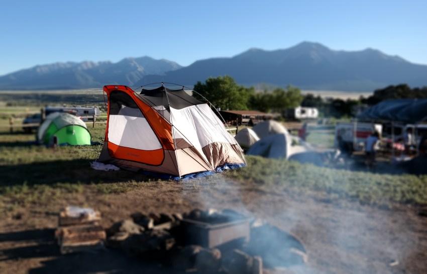 Camping at KOA in Colorado