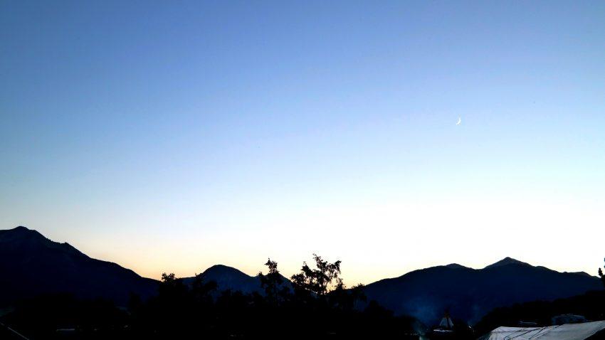 Sunset at KOA in Colorado