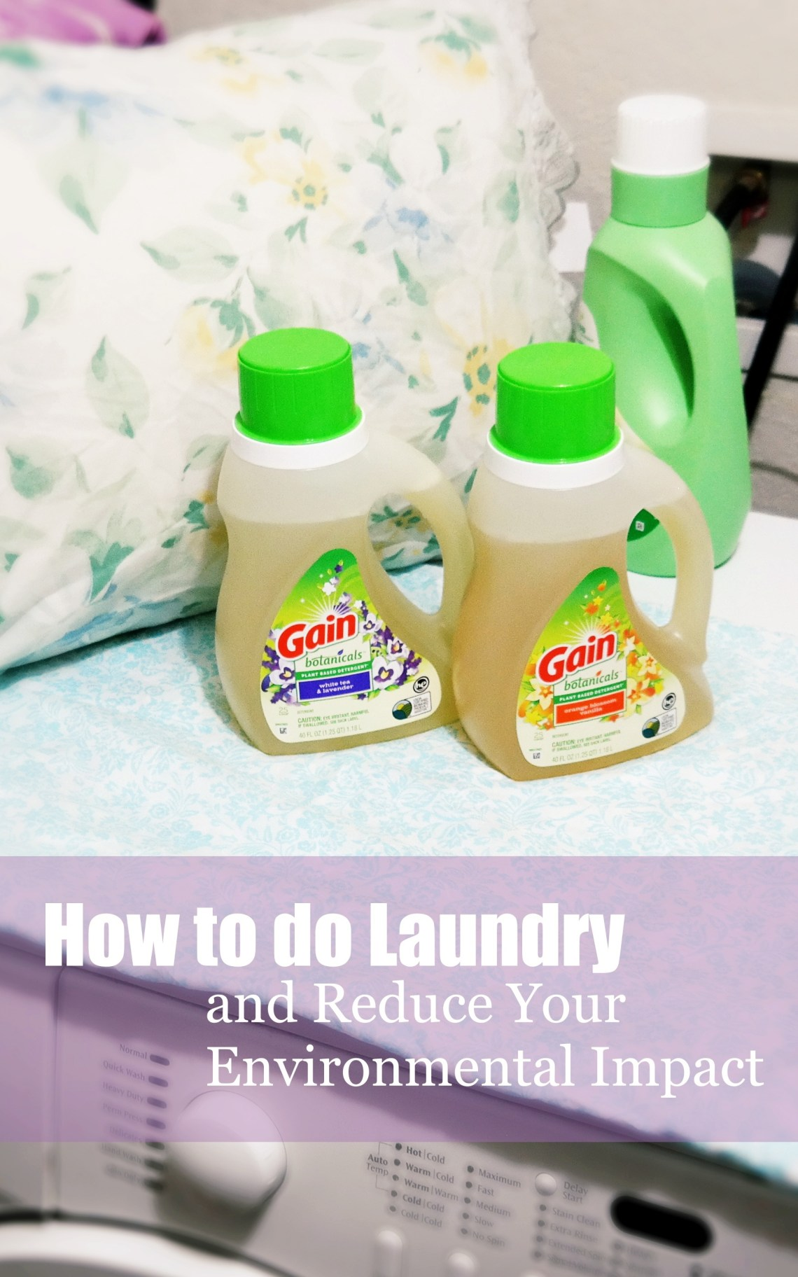 Making Laundry More Eco-Friendly with Gain Botanicals